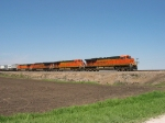 BNSF 7778 leading eastward
