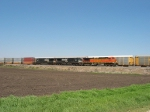 BNSF 4987 leading NS 9573 & 9654