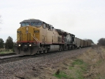 UP 7134 & SP 101 leading westbound coal empties