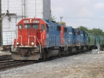 Three GTW GP38-2's pull out for headroom with L553