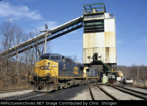 CSXT 61 Loading at the Evergreen Mine