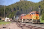 BNSF coal train exits Mullan Tunnel