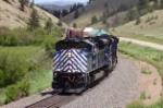 Westbound manifest climbs Mullan Pass
