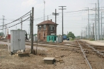 Deval Tower and CN/Metra (ex-SOO) UP/Metra (ex-CNW) Crossing