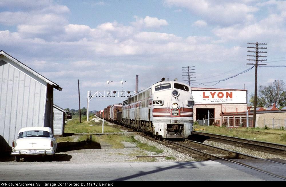CB&Q 117AB in 1964