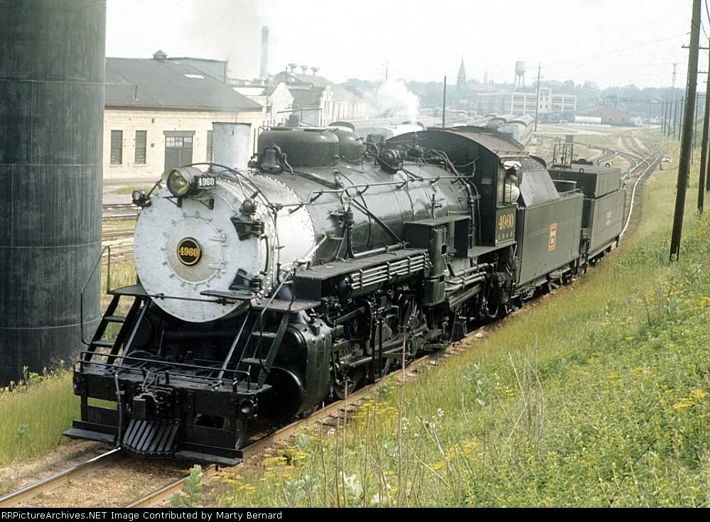 CB&Q 4960 Heading for Station