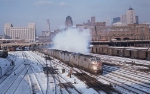 Three E7As Blow Their Soot Leaving Chicago Union Station with the CZ