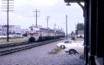 Seven CB&Q F-units in a Light Engine Move in 1963