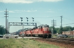 CB&Q SD24 #501 Heads Some New GP30s and Freight
