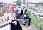 Riding the Back Porch of CB&Q 9153 at the West End of the Yards