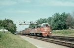 Three Year Old CB&Q GP30 942 and Sister Handle Short Freight in 1965