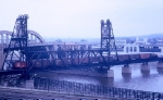 GN NW2 #147 on Mississippi River Bridge in 1964
