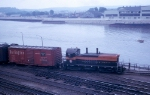 GN NW2 #147 Next to the Mississippi River near Union Depot in 1964
