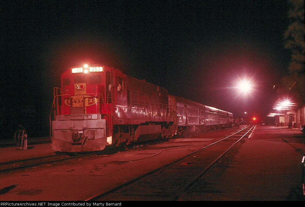 AT&SF 350 with Train 76