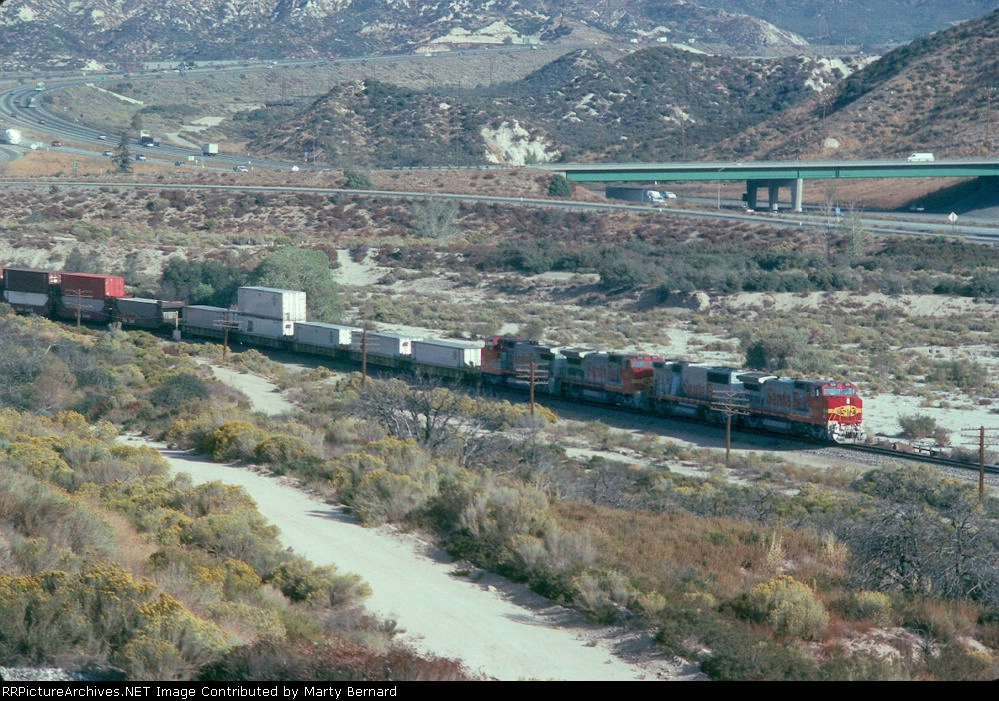 AT&SF 529 and Sisters with I5 in the Background