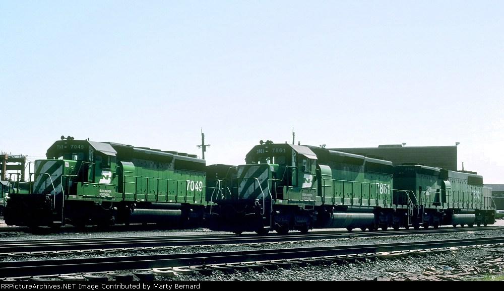 BN 7049, 7861 (ex-C&S 7861), and B-unit 7502