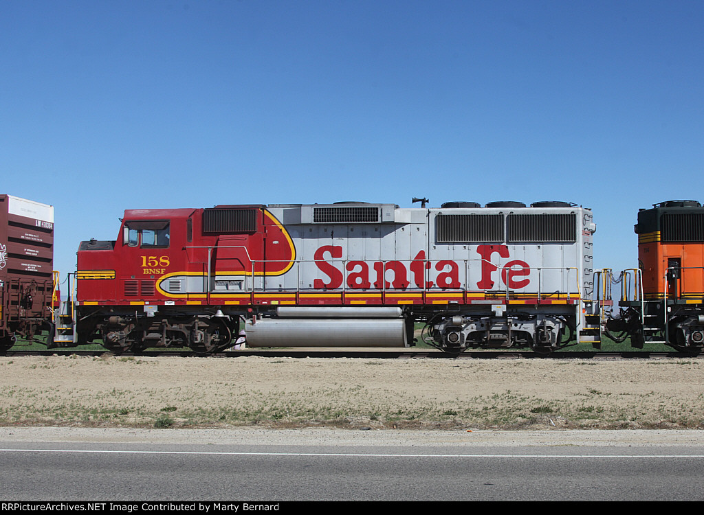 BNSF 158 on the San Jac Local