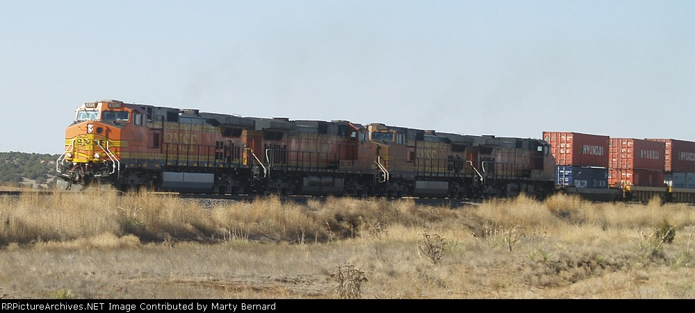 BNSF 5328, EB, Just Came Out of Abo Canyon