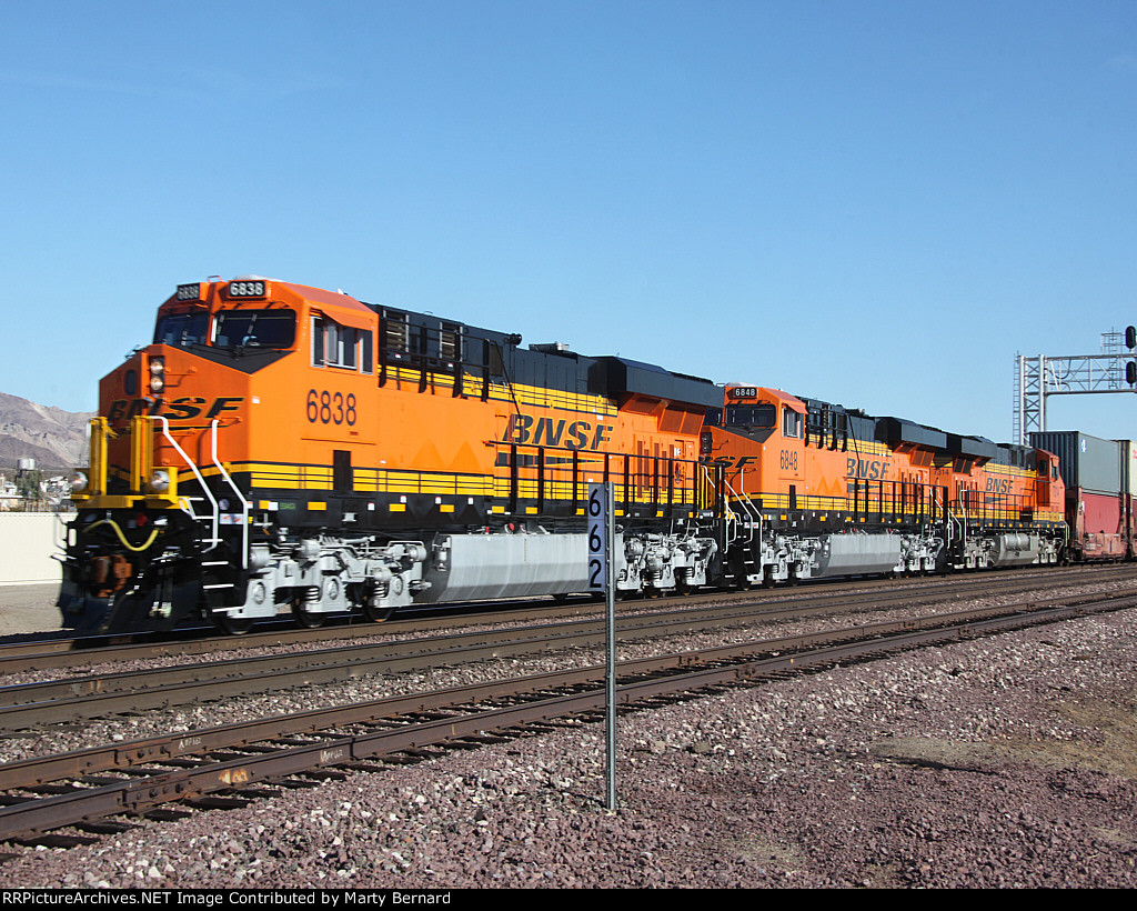 BNSF 6838, 6848, and 6686