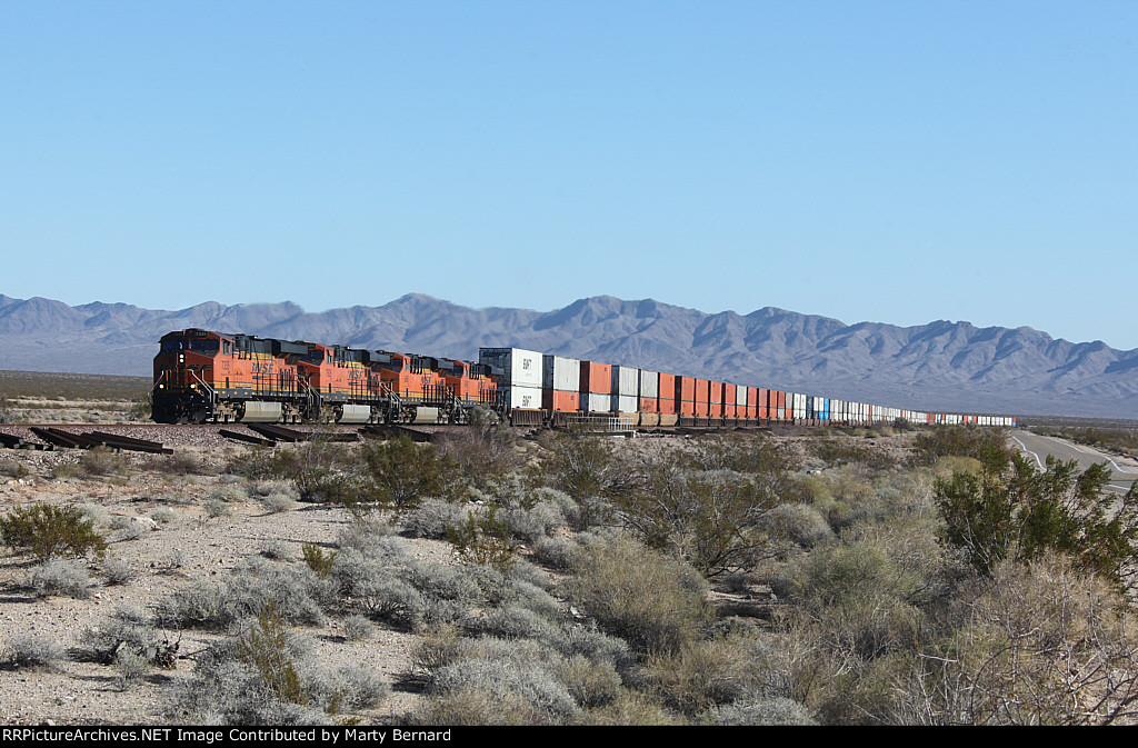BNSF 7235, 7628, 6666, and 6686