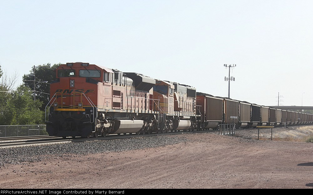 BNSF 9191 and 8854 With Coal