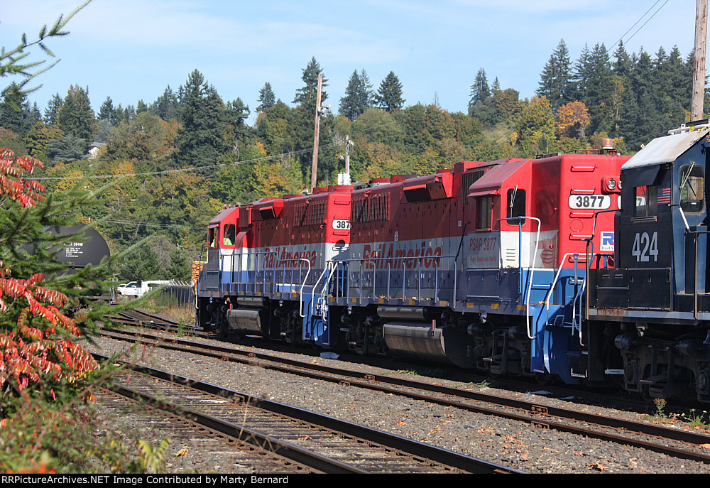 Puget Sound and Pacific Railroad 3877 and 3876