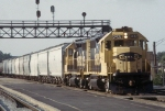 AT&SF 3432 and 3680 in 1991 Westbound