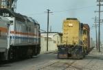 AT&SF 3615 Meets Amtrak 308 in May 1993