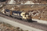 AT&SF 3700 and 3060 Running Light EB in 1991