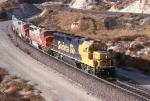 AT&SF 4031 and 117 plus 2 B-units Running Light in 1992
