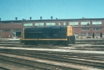 AT&SF 542 in Santa Fe Coach Yards in 1972