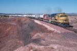 AT&SF 5967 and 619 Heading South Toward Phoenix with Pigs in 1994