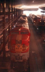 AT&SF 74L and 34C in Dearborn Station