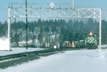 Three BN SD40-2s Southbound on SP in December 1994 (Picture 3 of 9)