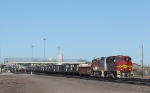 BNSF 149 and 153, The Brakeman is Pulling the Pin