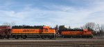 BNSF 1504 and 1512 Working Parallel Tracks