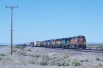 BNSF 5485 Eastbound in the Mojave Desert