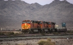 BNSF 4043, 4049, and 7495 Just After Sunset