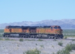 BNSF Light Engines 4487 5092 Eastbound in the Mojave Desert