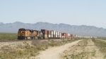 BNSF 4821 Westbound Out in the Mojave Desert