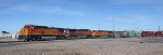 BNSF 5307, 1109, and 4374 on the NE Leg of the Wye Changing for the UP to BNSF Trackage