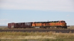 BNSF 5485 and 5104 Waiting to Come Off Banch to Canada