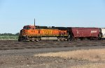 DPU BNSF 5320 in ex-NP Pasco Yard on Empty Grain Train