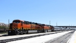 BNSF 6609 and 7233 With Business Car Train