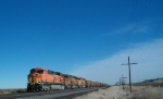 BNSF 6128 with an Empty Power River Unit Coal Train