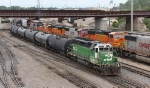 BNSF 6332 Working Northtown Yard, the Big SDs Are Stored