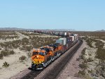 BNSF 6838, 6848, and 6686 Out in the Mojave Desert Along Route 66
