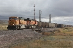 BNSF 8915 and 6143 With Coal at Americas Road, East of Gillette