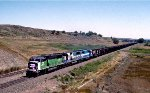 BNSF 9278 and EMDX 3 and 9002 With Powder River Coal
