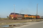 BNSF 944, 6800, and 4359 About to Head West from Avoindale Yard